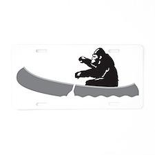 Bigfoot Paddles Aluminum License Plate