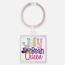 Jelly Bean Queen Square Keychain