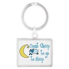 Go To Sleep Landscape Keychain