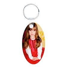 Xmas_card_2012_1cp Aluminum Oval Keychain