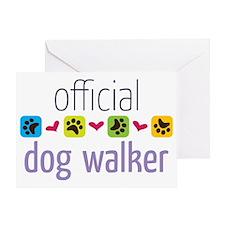 Official Dog Walker Greeting Card