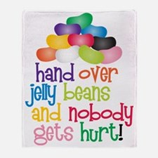 Hand Over Jelly Beans Throw Blanket