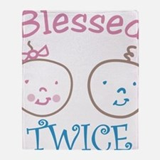 Blessed Twice Throw Blanket
