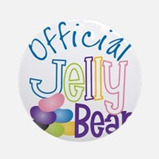 Official Jelly Bean Round Ornament