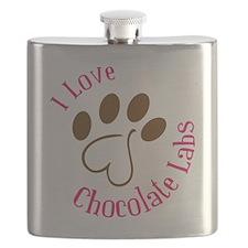 I Love Chocolate Labs Flask