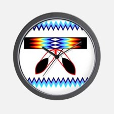NATIVE AMERICAN BEADED STRIP Wall Clock