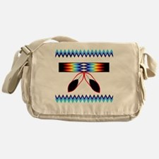 NATIVE AMERICAN BEADED STRIP Messenger Bag