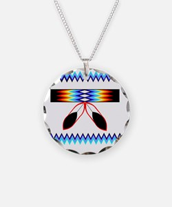 NATIVE AMERICAN BEADED STRIP Necklace