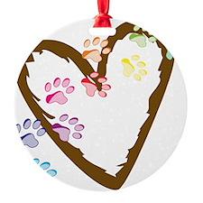 Paw Heart Ornament