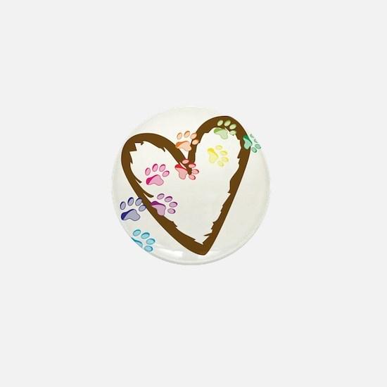 Paw Heart Mini Button