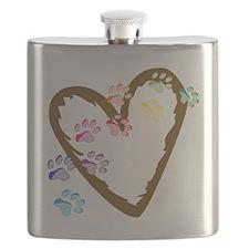 Paw Heart Flask