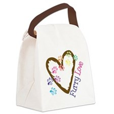 Furry Love Canvas Lunch Bag