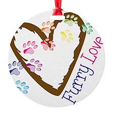 Furry Love Ornament