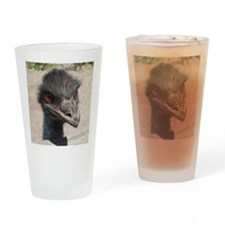 Angry Ostrich Drinking Glass