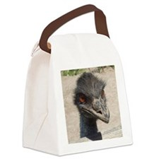 Angry Ostrich Canvas Lunch Bag
