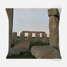 Stonehenge From Inside Woven Throw Pillow