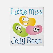 Little Miss Jelly Bean Throw Blanket