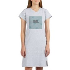 Dogs Leave Paw Prints Women's Nightshirt