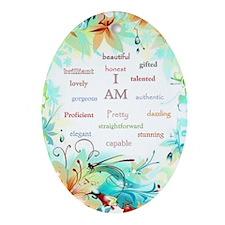I am..... Oval Ornament