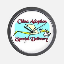 Stork China Adoption Wall Clock