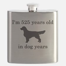 75 birthday dog years golden retriever Flask