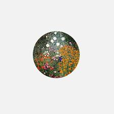 Gustav Klimt Flower Garden Mini Button