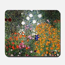 Gustav Klimt Flower Garden Mousepad