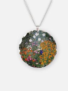 Gustav Klimt Flower Garden Necklace
