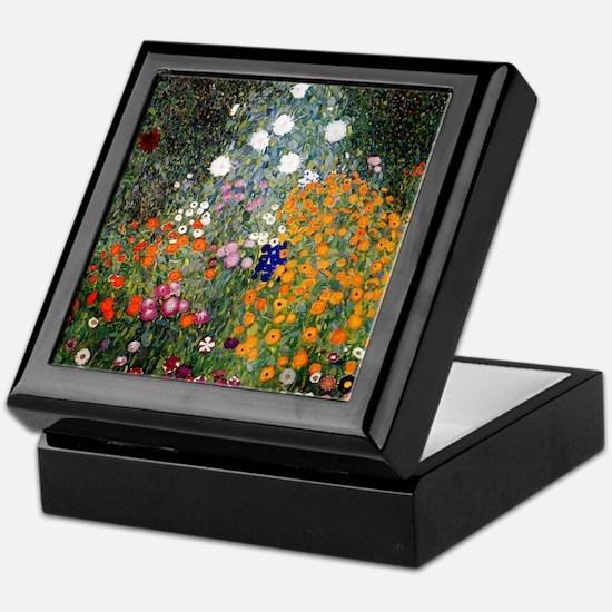 Gustav Klimt Flower Garden Keepsake Box