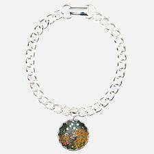Gustav Klimt Flower Gard Charm Bracelet, One Charm