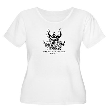 Odin's Eye Women's Plus Size Scoop Neck T-Shirt