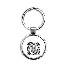 G-Force QR Code Round Keychain