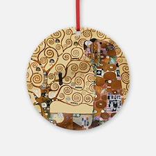 Gustav Klimt Tree Of Life Round Ornament