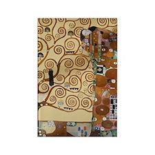 Gustav Klimt Tree Of Life Rectangle Magnet