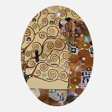 Gustav Klimt Tree Of Life Oval Ornament