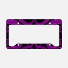 Purple and Black Goth Heart P License Plate Holder