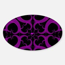 Purple and Black Goth Heart Pattern Decal