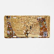 Gustav Klimt Tree Of Life Aluminum License Plate