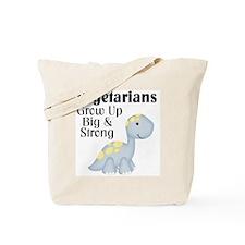 Vegetarian Dinosaur Tote Bag