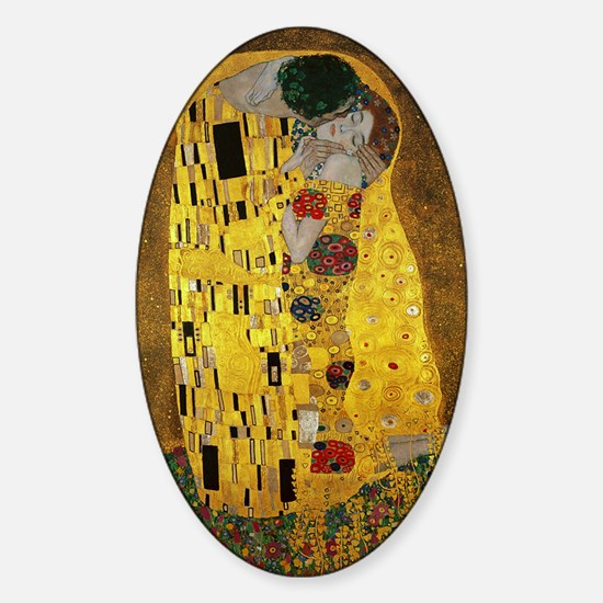 Gustav Klimt The Kiss Sticker (Oval)