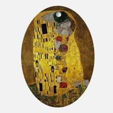 Gustav Klimt The Kiss Oval Ornament