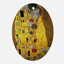 Gustav Klimt The Kiss Oval Ornament