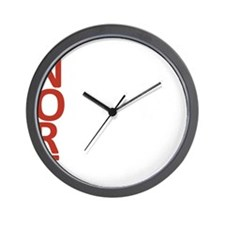 S.N.O.R.T. Text Logo Wall Clock