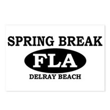 Spring Break Delray Beach, Fl Postcards (Package o