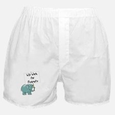 Elephant Boxer Shorts: Will Work for Peanuts