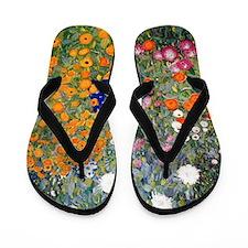 Gustav Klimt Flower Garden Flip Flops