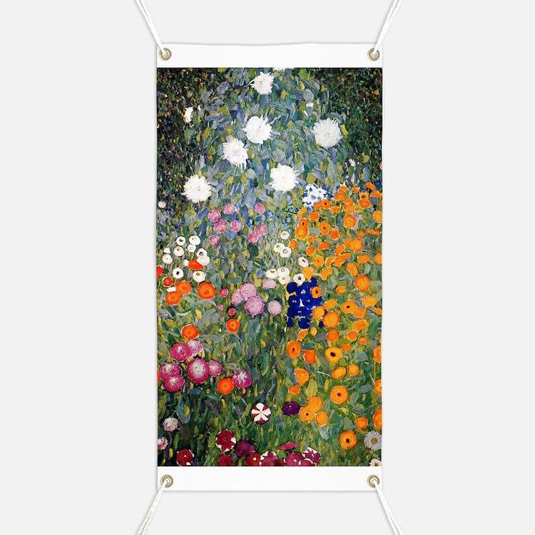 Gustav Klimt Flower Garden Banner
