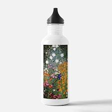Gustav Klimt Flower Ga Water Bottle