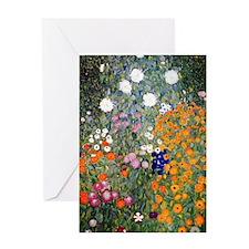 Gustav Klimt Flower Garden Greeting Card