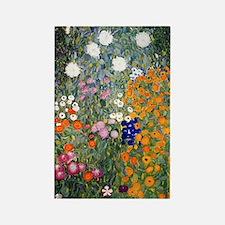 Gustav Klimt Flower Garden Rectangle Magnet